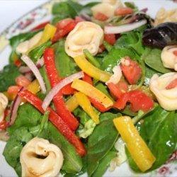 Tortellini Spinach Salad With Sesame Dressing recipe