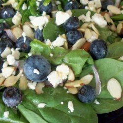 Greens With Blueberries, Feta and Almonds recipe