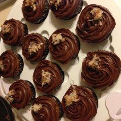 Filled German Chocolate Cupcakes recipe