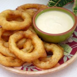 Caribbean Lime Onion Rings With Spicy Dipping Sauce recipe