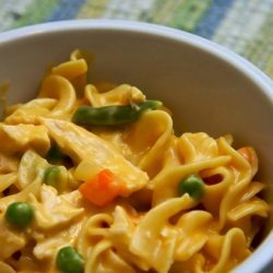 One Pot Cheesy Chicken and Noodles recipe