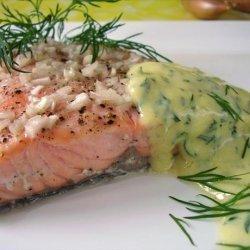 Salmon With Mustard Sauce. recipe