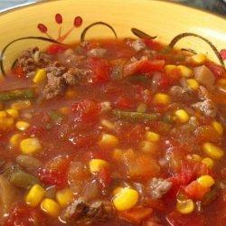 Hamburger Vegetable Soup - Crock Pot recipe