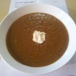 Souped up Lentils recipe