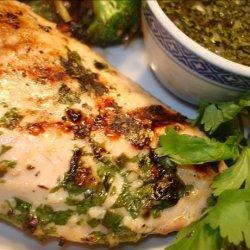 Grilled Chicken With Coriander/Cilantro Sauce recipe