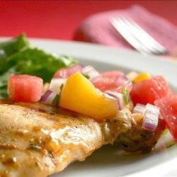 Marinated Grilled Chicken With Watermelon Salsa recipe