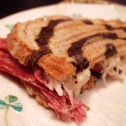 Grilled Reuben Sandwiches recipe