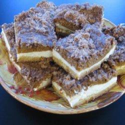Streusel Pumpkin Cheesecake Bars recipe
