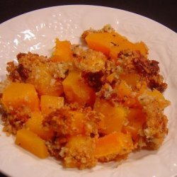 Baked Butternut Squash and Parmesan Cheese Gratin recipe