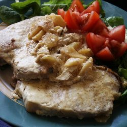 Pork Chops and Apples in Mustard Sauce recipe