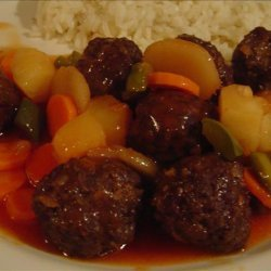 Sweet and Sour Meatballs (Oriental Sweet and Sour  Meatballs) recipe