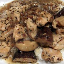 Peppered Chicken With Lemon-mushroom-wine Sauce recipe