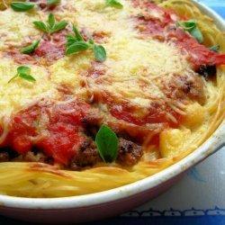 Super Baked Spaghetti Pie recipe