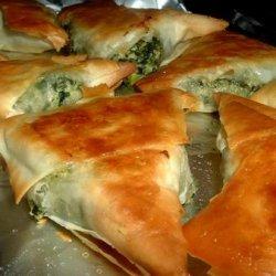 Greek Spinach Triangles recipe