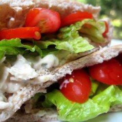 Middle Eastern Tuna Salad Pitas recipe