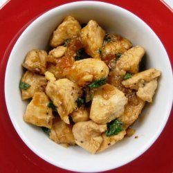 Asian Spiced Chicken With Vanilla Apricot Sauce recipe