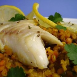 Cod With Spiced Red Lentils recipe