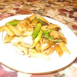 Penne With Chicken and Roasted Asparagus recipe