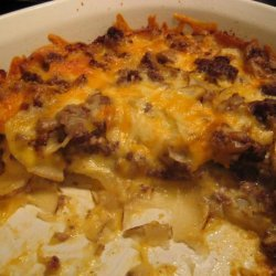 Cheesy Hamburger & Potato Casserole recipe