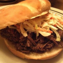 Crock Pot Shredded Venison Sandwiches recipe