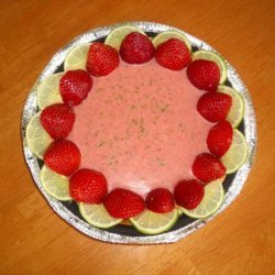 Key Lime Cheesecake With Strawberry Butter Sauce recipe