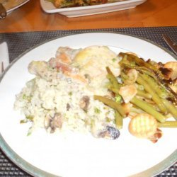 Chicken Breasts Smothered in a Mushroom Cream Sauce recipe