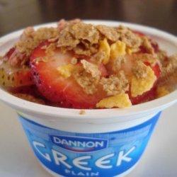 Greek Yogurt With Honey, Fruit and Granola recipe