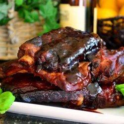 Crock Pot Barbecued BBQ Ribs recipe