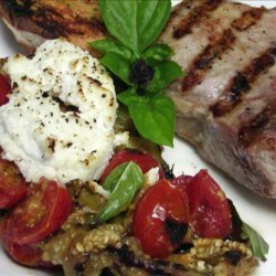 Grilled Eggplant With Ricotta and Tomato recipe