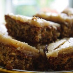 Banana Oatmeal Cake with Caramel Fudge Frosting recipe