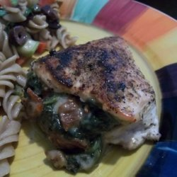 Chicken Breasts Stuffed With Spinach & Sun-Dried Tomatoes recipe