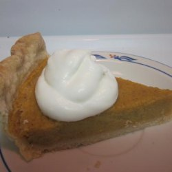 Pumpkin Pie, Using Milk and Fresh Pumpkin recipe