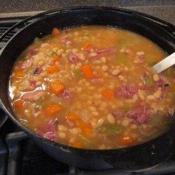 Simple Bean Soup With Ham Bone recipe