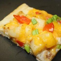 Three Cheese Rosemary Potato Pizza recipe