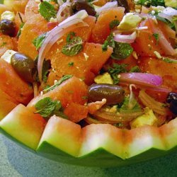 Watermelon, Feta and Black Olive Salad recipe