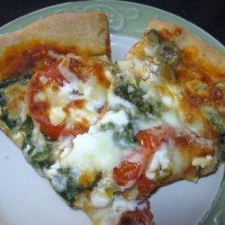 Spinach Feta and Artichoke Pizza recipe