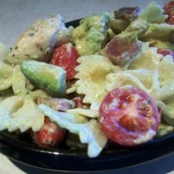 Ranch and Avocado Pasta Salad recipe