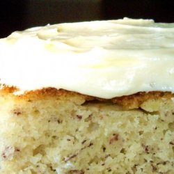 Banana Cake With Homemade Pudding Icing recipe