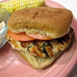 Goat Cheese and Spinach Turkey Burgers recipe