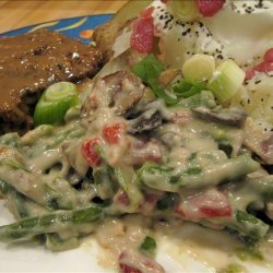 Green Beans in Cheesy Bacon Sauce (Crock Pot) recipe