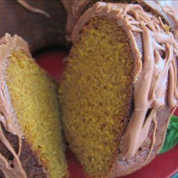 Pumpkin Bundt Cake With Chocolate Glaze recipe