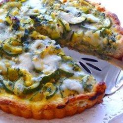 Zucchini Tart With Gruyere Cheese and Herbs recipe