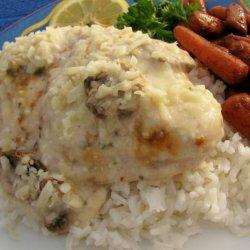 Lemon Pepper-Tarragon Chicken With Sour Cream, Mushroom and Wine recipe