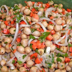 Warm Chickpea Salad With Shallots and Red Wine Vinaigrette recipe