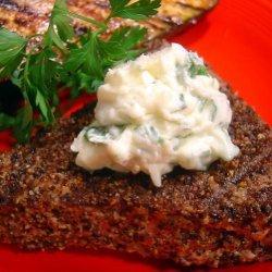 Pepper- Grilled Tuna Steak With Parsley-  Garlic Butter recipe