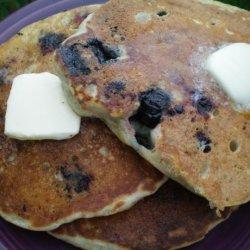 Blueberry and Banana Pancakes recipe