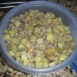 Kielbasa, Potato, and Onion Skillet recipe