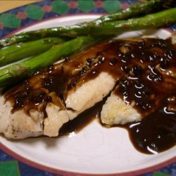 Tilapia With Balsamic Butter Sauce recipe