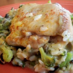 Easiest Chicken Rice & Veggie Casserole recipe