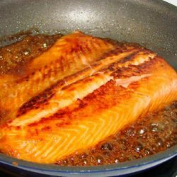 Salmon With Bourbon and Brown Sugar Glaze recipe